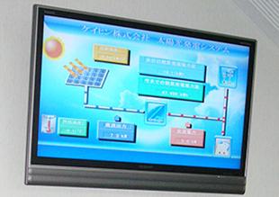 太陽光システムの状況をリアルタイムで表示